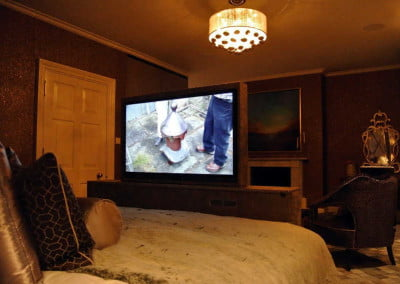 Guest bedroom motorised Bed TV
